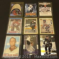 Lot of 9 Player Cards Including Gretzky / Roy / Selanne & More