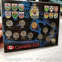 1992 Canada Providence quarters and $1 coin