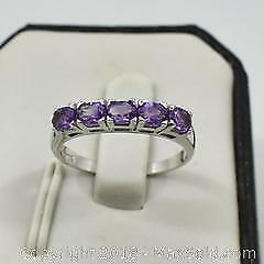 Natural Amethyst Gemstone Ring