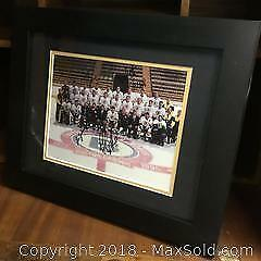 Authentic Boston Bruins Framed 11x14 Team Autographed Picture.
