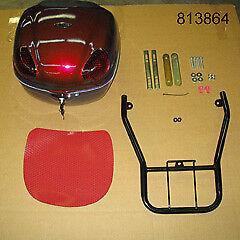 ETON Matrix PN2H 50cc & PN2I 150cc Red OEM Luggage Box w/Mounting Rack, 813864