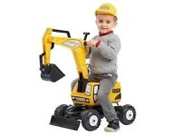 Ride on digger - Falk Constructor Excavator and Helmet