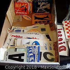 Large Lot of Decals for Model Airplanes, Boats