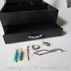 Silver Jewelry and Jewelry Box A