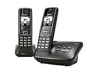 Gigaset A420A Twin Black Digital Cordless Phone With Answering Machine New