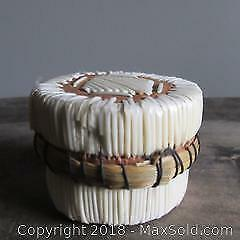 Quill and sweet grass lidded box native