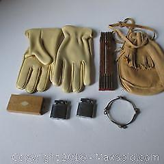 Pouch, Gloves, Bangle, Cribbage A