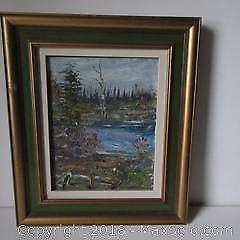 Canadian Oil Painting Country Scene A