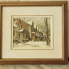 Brian Ericsson listed Canadian artist Cabbage Town Toronto oil painting.