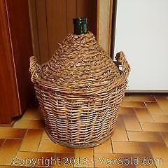 Vintage Wrapped Carboy 3