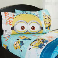 Minion bed set including curtains ALL hand made