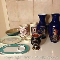9 piece porcelain variety items.
