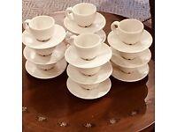 IKEA Espresso Cups & Saucers x 12