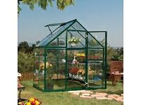 6ft X 6ft Quality Greenhouse only 2 years old. Two Including shelf units 6