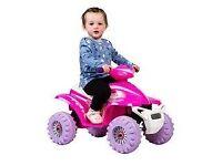 Pink Racing Quad 6V Ride On.