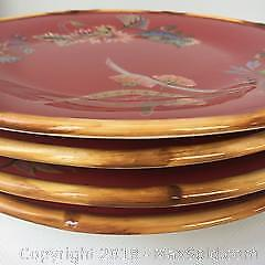 4 Tracy Porter hand painted plates B