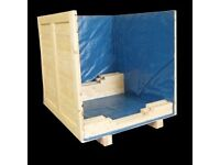 Custom made crate with polyline to protect from water damage
