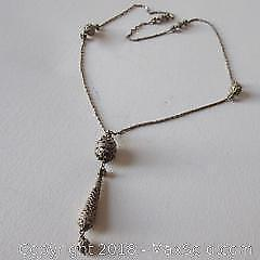Silver Antique Middle Eastern Pendant necklace