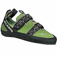 Scarpa Veloce Rock Climbing Shoes -Size 9 UK, with two chalk bags, Belay Device & Locking Caribiner