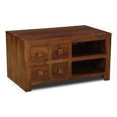 Solid mango wood TV unit