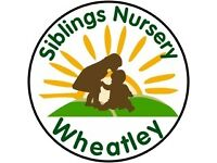 Qualified Nursery Nurse - private nursery, 'Good' rating, 'Siblings Nursery of Wheatley'