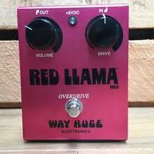 Way Huge Red Llama Guitar Overdrive Pedal Moorooka Brisbane South West Preview