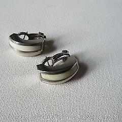 S'Paliu Modernist Silver Bone Earrings A