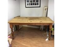 Great Pine Dining Table. MUST GO BY FRIDAY MIDAY . HENCE PRICE