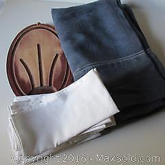 Linen Table Cloth, Napkins, Cutting Board A