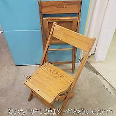Antique Union Fire Company Wooden folding chairs