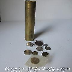 Brass Shell Casing, Coins A