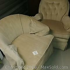 Pair of lounge chairs.