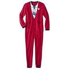 Anchorman/red suit onesie