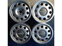 Audi pepperpot alloys (alloy wheels , vw,audi,lupo,polo)