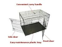 Small dog cage black plastic coated £15