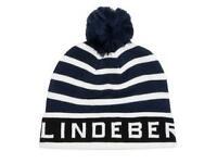 BRAND NEW - Lindeberg stripe pompom beanie hat - worth £25