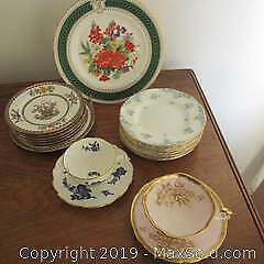 Assorted vintage English fine bone china Royal Crown Derby, Paragon, Coalport, Crown Staffordshire, Copeland Spode.