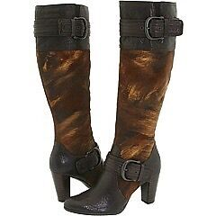 Ladies winter leather boots