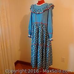 Cotton Long Dress, Oklahoma Style Costume
