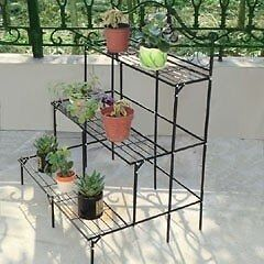 Three tier greenhouse staging/ garden plant display.