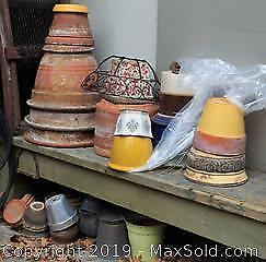 Terracotta And Other Garden Pots B