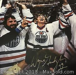 Authentic Wayne Gretzky 8x10 Signed Stanley Cup Photo.