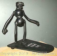 1952 Helsinki Finland Olympics Metal Abstract Discus Thrower Sculpture