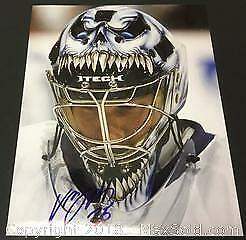 Authentic Vesa Toskala Signed 8 x 10 Photograph