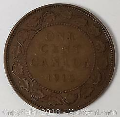 1915 Canada One Cent Coin