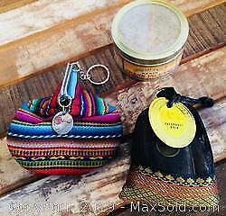 Peruvian Handmade Coin Purse, Patchouli Noir and Frank Incense Resin
