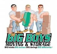 Careful & friendly movers (2 big movers@$60hr or 3 movers@$89h)