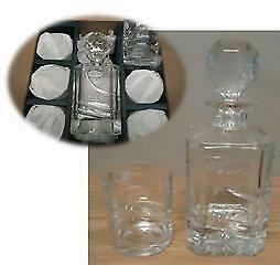 Overstock Liquidation Bohemian Crystal - Decanter & 6 Glasses