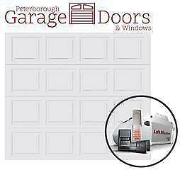 Peterborough Garage Doors & Windows 9' X 7' R9 White Colonial Garage Door