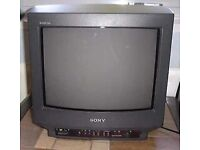 WANTED Black Sony Trinitron CRT TV
